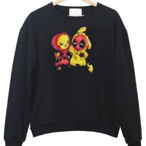 Pikapool Pikachu Deadpool Sweatshirt