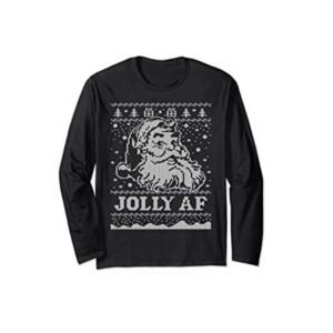 Santa JOLLY AF Ugly Christmas Sweatshirt