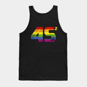 45 Squared Trump 2020 Second Term USA LGBT Tank Top