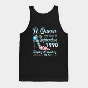 A Queen Was Born In September 1990 Tank Top